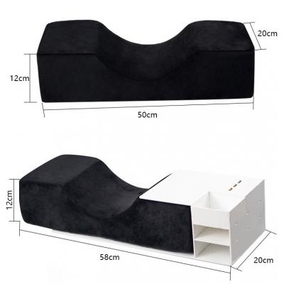 Подушка черная ортопедическая с шкафчиком