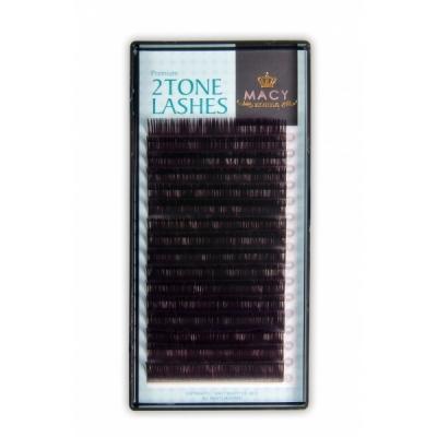 Ресницы черные с цветными кончиками(Фиолетовые) MIX D - Загиб/0,10мм