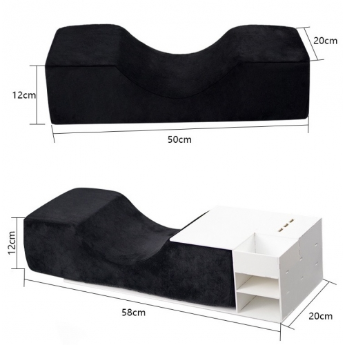 Pillow with memory foam and organizer