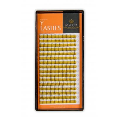 Macy Y-Lashes MIX D - Загиб / 0,10мм